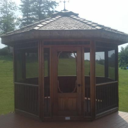 Gazebo before cleaning.