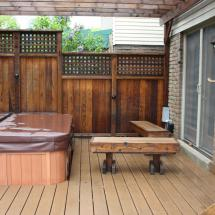Cedar deck after cleaning with Seal Once by HD Outdoor Cleaners.