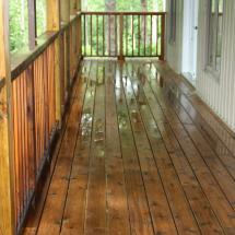 Pressure treated wood deck after cleaning by HD Outdoor Cleaners.