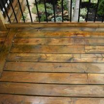 Deck after cleaning with Seal Once by HD Outdoor Cleaners.