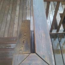 Deck handrail before restoration with Seal Once.