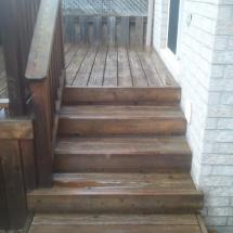 Two level deck and steps before restoration with Seal Once.