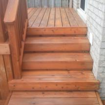 Two level deck and steps after restoration with Seal Once.