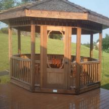 Gazebo after cleaning.