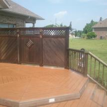 Look at the dirt and grime on this cedar privacy screen.