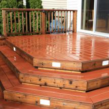 Composite deck after cleaning and sealing with Seal Once.
