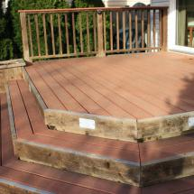 Composite deck before cleaning.