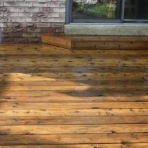 Deck after cleaning and sealing with Seal Once by HD Outdoor Cleaners.