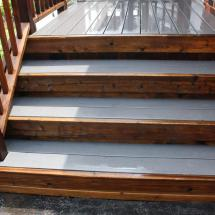 Wow, this cedar and composite deck looks almost new again.