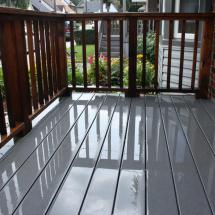 Look how clean these deck boards are now.
