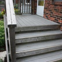 Cedar and composite deck looking pretty old.