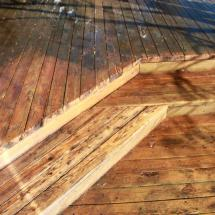 Look at the difference we can make cleaning your deck.