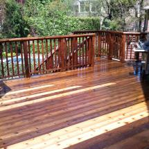 Not convinced yet? Look at the difference here between deck boards that have been cleaned vs not cleaned.