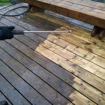 One more time - incredible how much cleaner this deck is!